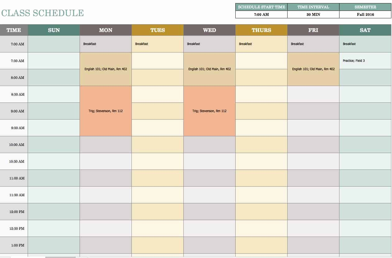 Monthly Schedule Template Excel Lovely Free Weekly Schedule Templates for Excel Smartsheet