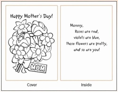 Mothers Day Card Template Awesome Easy Printable Mothers Day Cards Ideas for Kids