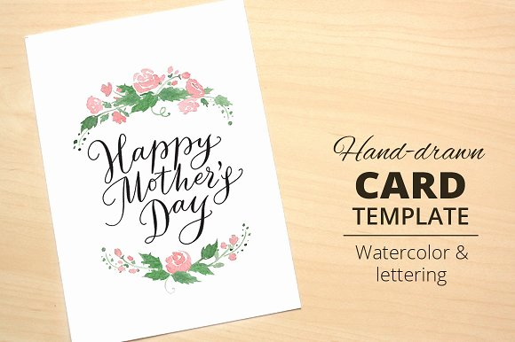 Mothers Day Card Template Beautiful Happy Mother S Day Card Template Card Templates On