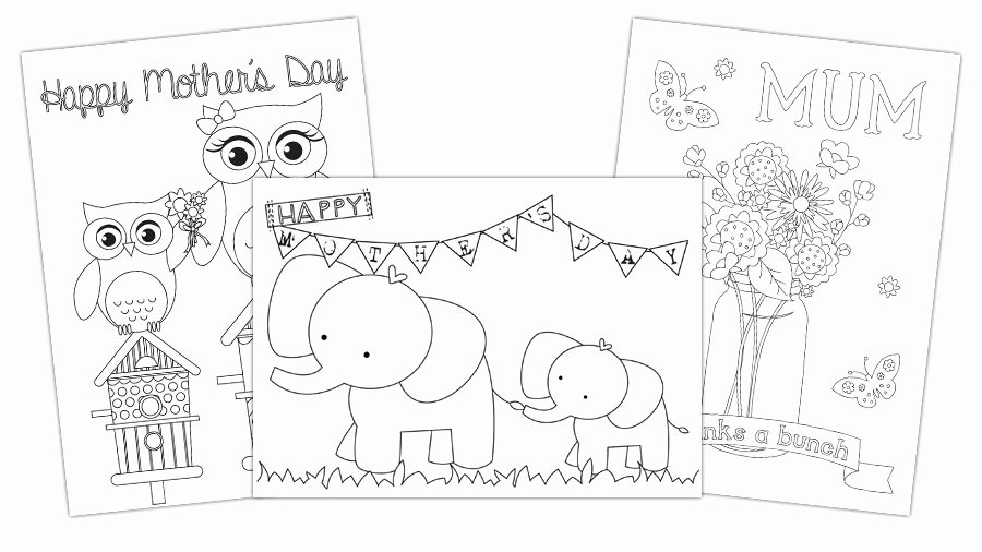 Mothers Day Card Template Elegant Free Mother S Day Card Templates You Can Colour In and