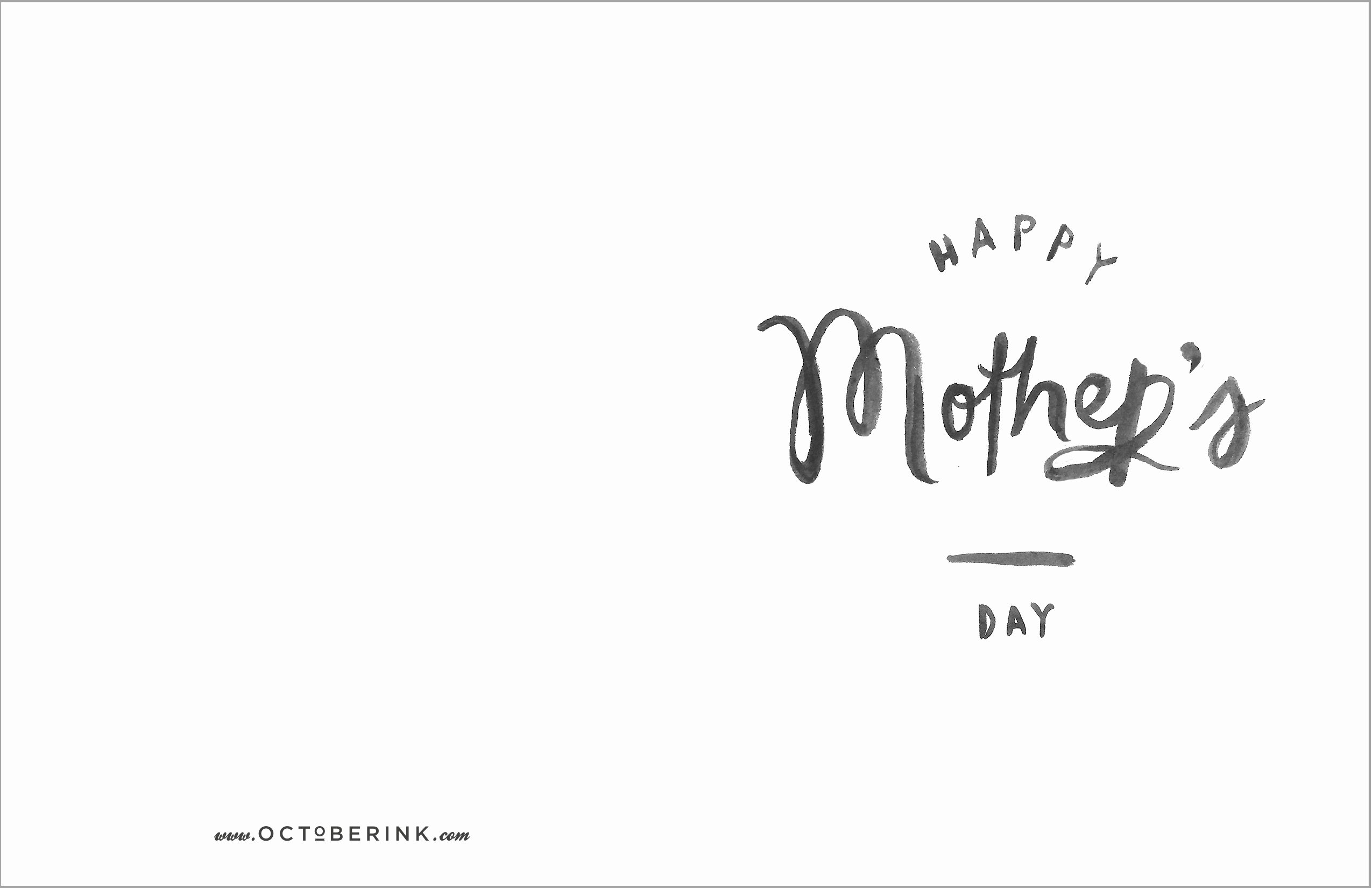Mothers Day Card Template Elegant Free Mother S Day Printables October Ink