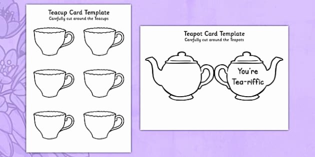 Mothers Day Card Template Elegant Ks1 Mother S Day Crafts Teapot Card