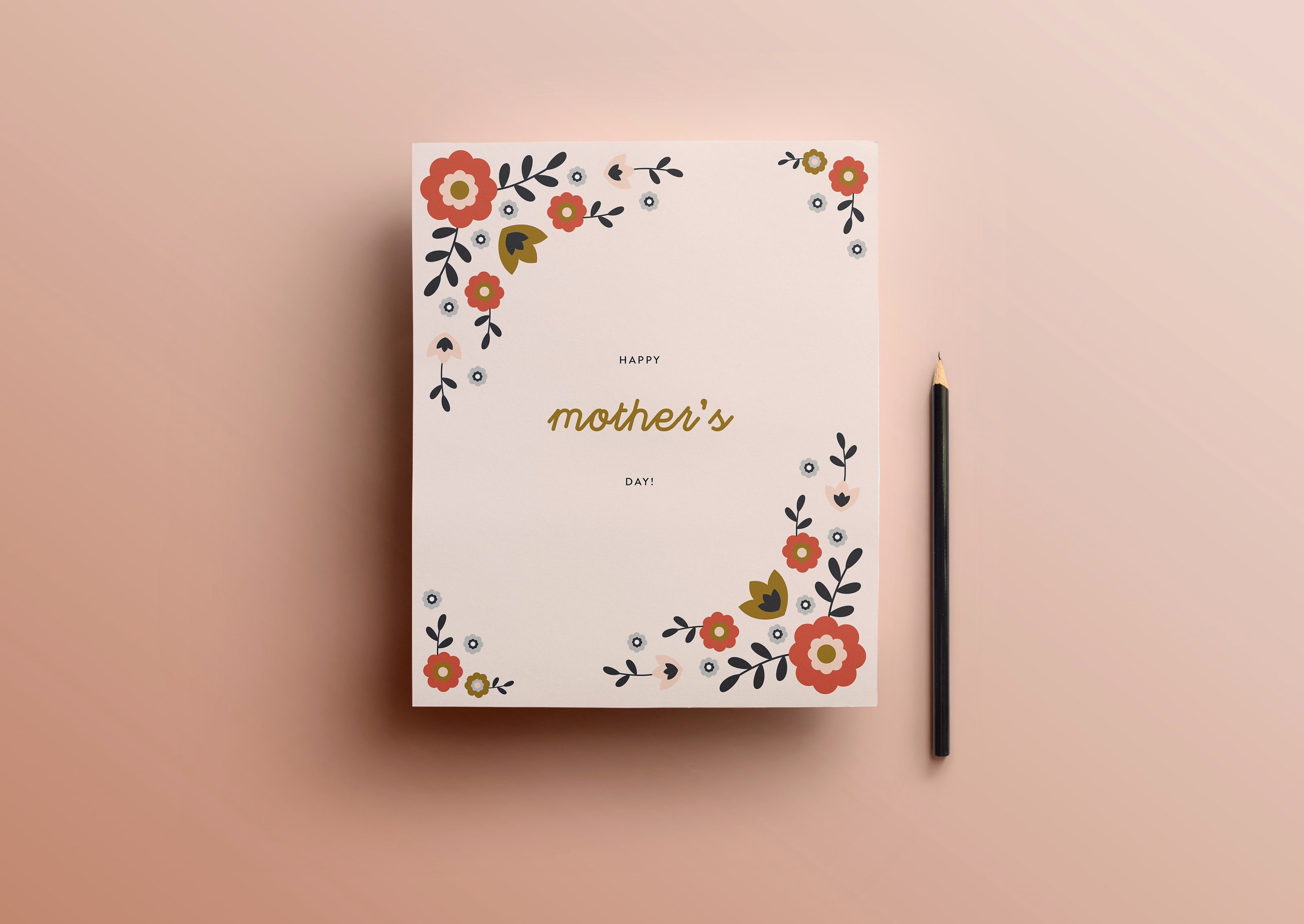 Mothers Day Card Template Fresh Mother S Day Card