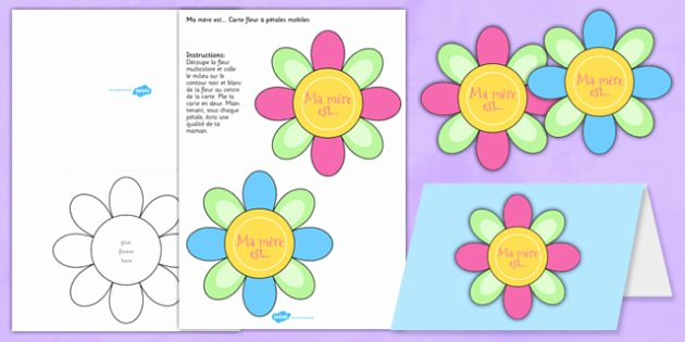 Mothers Day Card Template Inspirational Mother S Day Flap Flower Card Template French Mothers Day