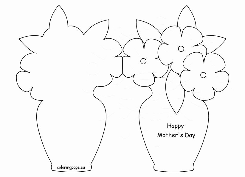 Mothers Day Card Template Lovely Happy Mother's Day Card Template – Coloring Page
