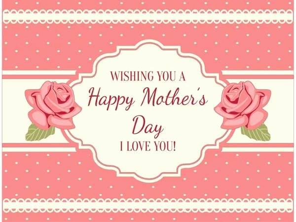 Mothers Day Card Template Luxury 9 Free Mothers Day Cards