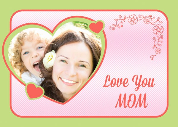 Mothers Day Card Template New Free Custom Mother S Day Cards Psd Templates