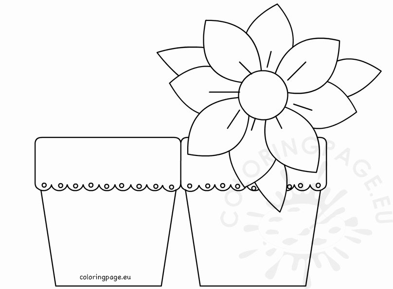 Mothers Day Card Template Unique Mother's Day Flower Card – Coloring Page