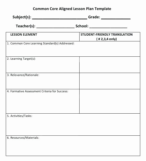 Music Lesson Plan Template Awesome Mon Core Music Lesson Plan Template – top Kindergarten