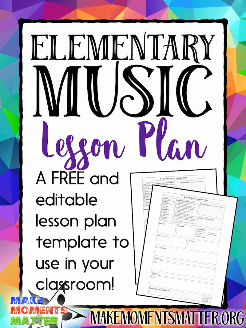Music Lesson Plan Template Best Of Free My Elementary Music Lesson Plan Template Make