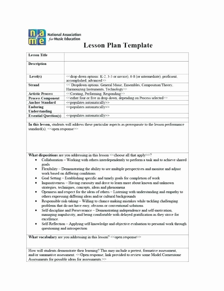 Music Lesson Plan Template Fresh General Music Lesson Plan Template – Violin Lesson Plan