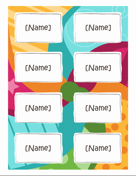 Name Tag Template Free Awesome Avery 5395 Template Word Free Download Printable