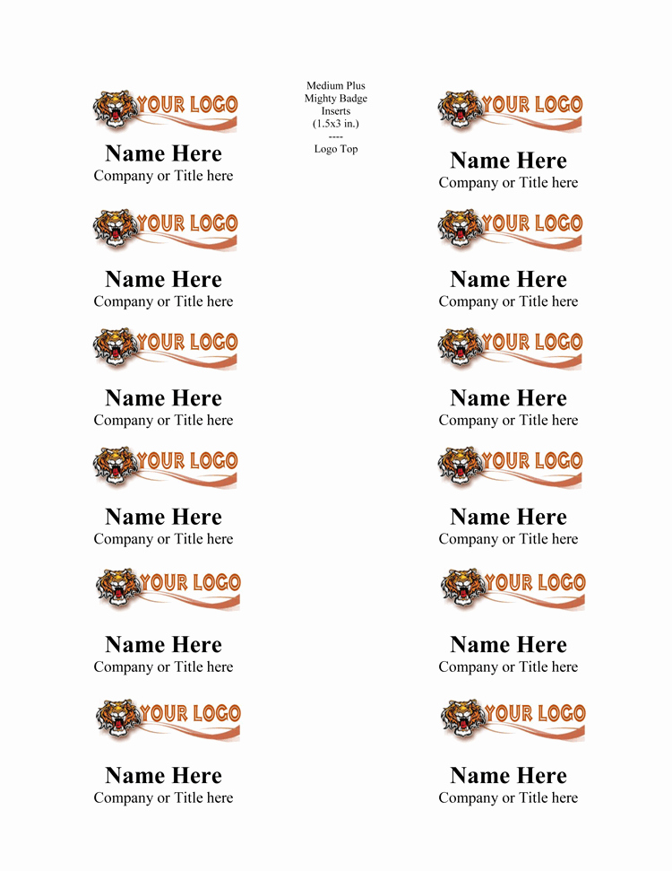 Name Tag Template Free New 5 Name Tag Templates to Print Custom Name Tags