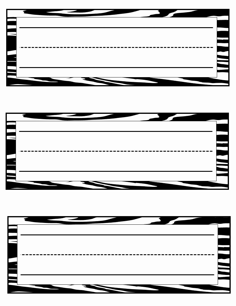 Name Tag Template Free Printable Awesome Tales Of A Teacherista Zebra Print Goo S