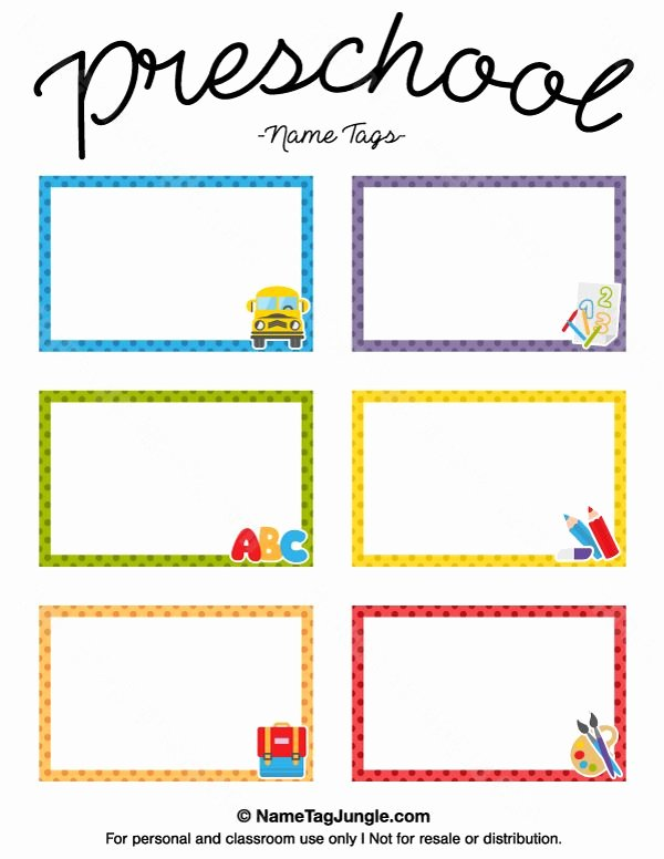 Name Tag Template Free Printable Beautiful Free Printable Preschool Name Tags the Template Can Also