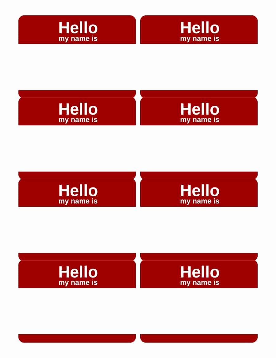 Name Tag Template Free Printable Best Of 47 Free Name Tag Badge Templates Template Lab