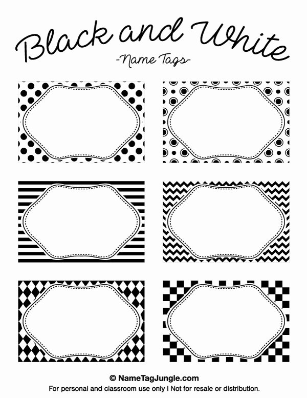 Name Tag Template Free Printable Best Of Free Printable Black and White Name Tags the Template Can