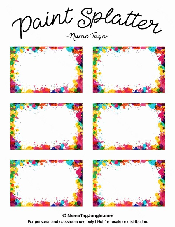 Name Tag Template Free Printable Elegant Pin by Muse Printables On Name Tags at Nametagjungle