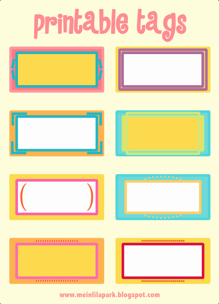 Name Tag Template Free Printable Fresh Free Printable Cheerfully Colored Tags – Ausdruckbare