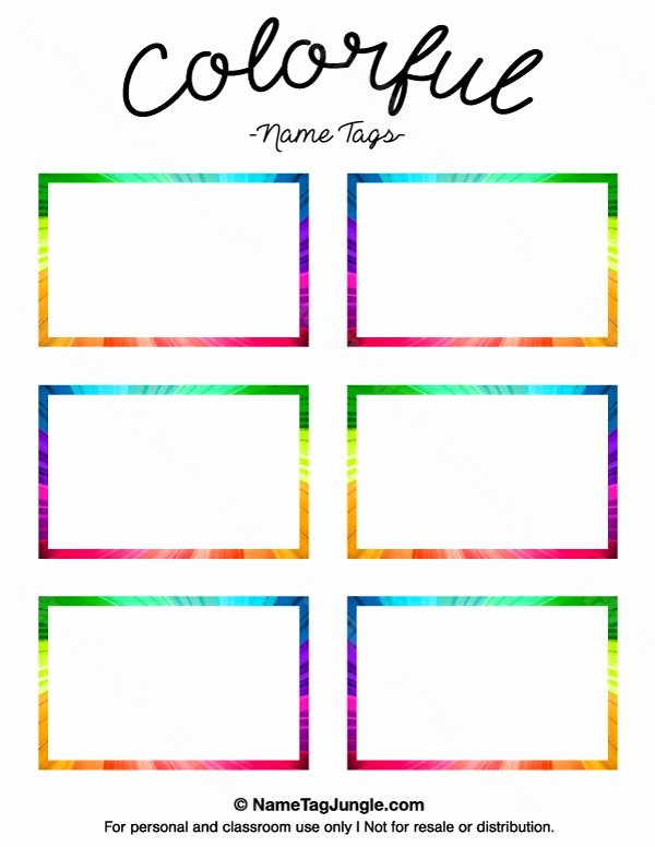 Name Tag Template Free Printable Fresh Printable Name Tag Templates