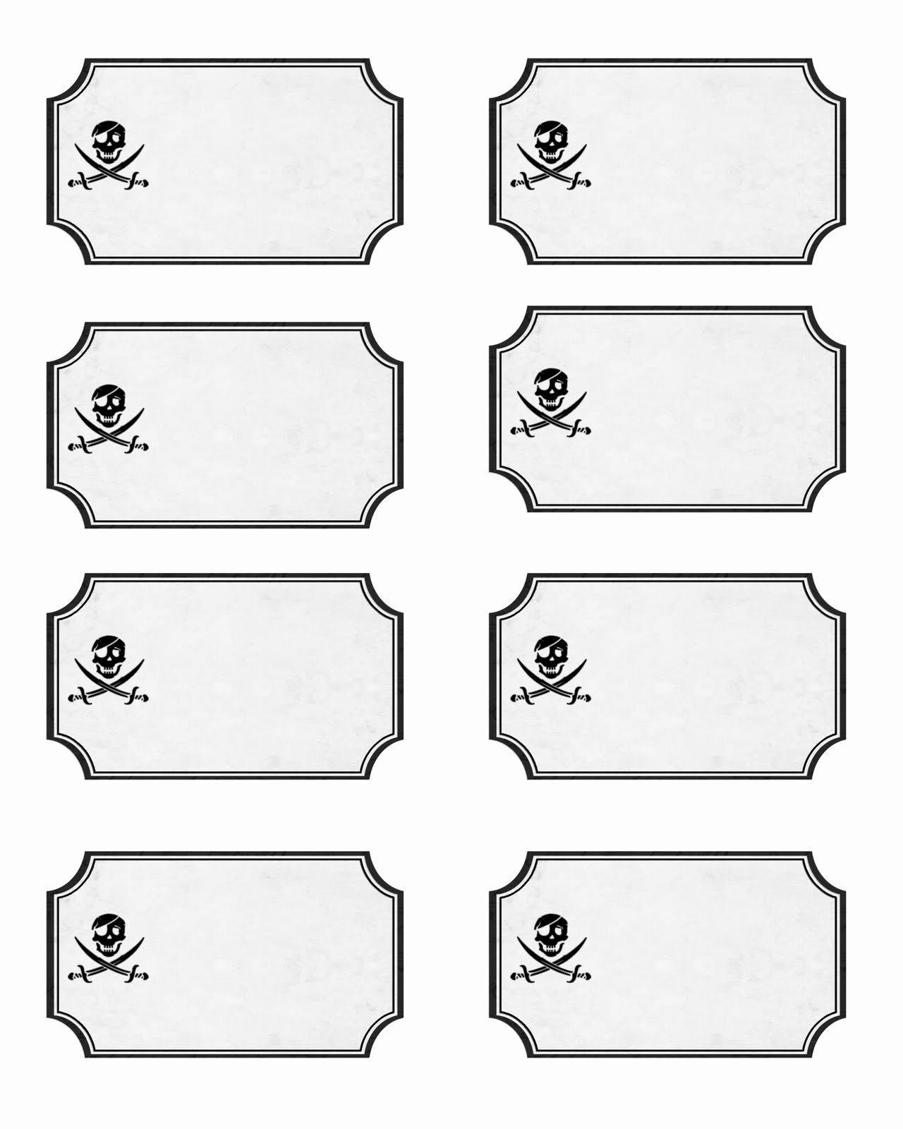 Name Tag Template Free Printable New Pirate Party with Free Printables