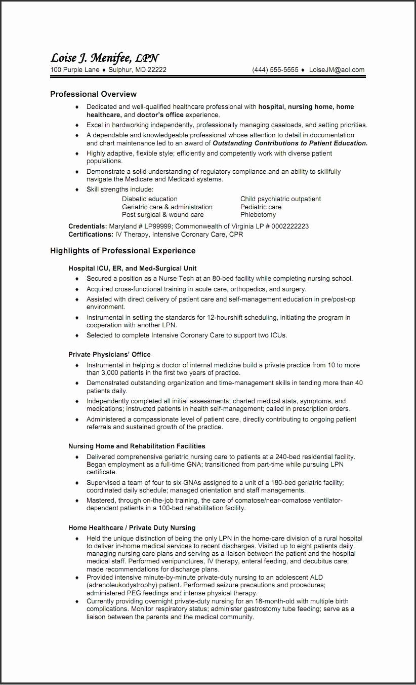 New Graduate Nurse Resume Examples Awesome School Nurse Resume Example