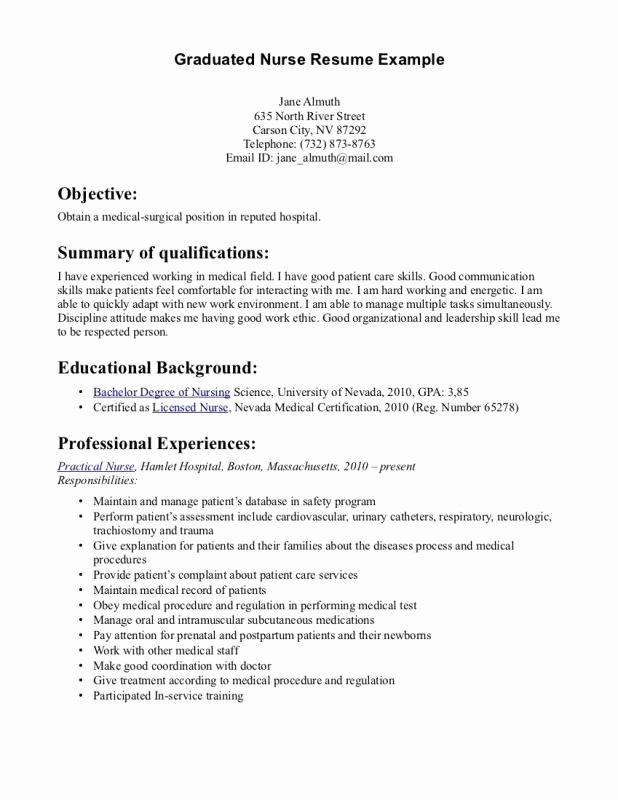 New Graduate Nurse Resume Examples Elegant How to Make A New Grad Nursing Resume