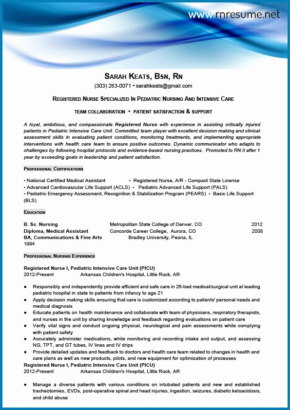 New Graduate Nurse Resume Examples Inspirational Professional New Grad Rn Resume Sample