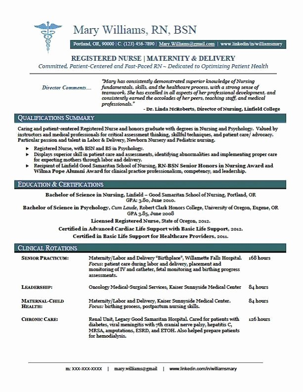 New Graduate Nurse Resume Examples New Sample New Rn Resume