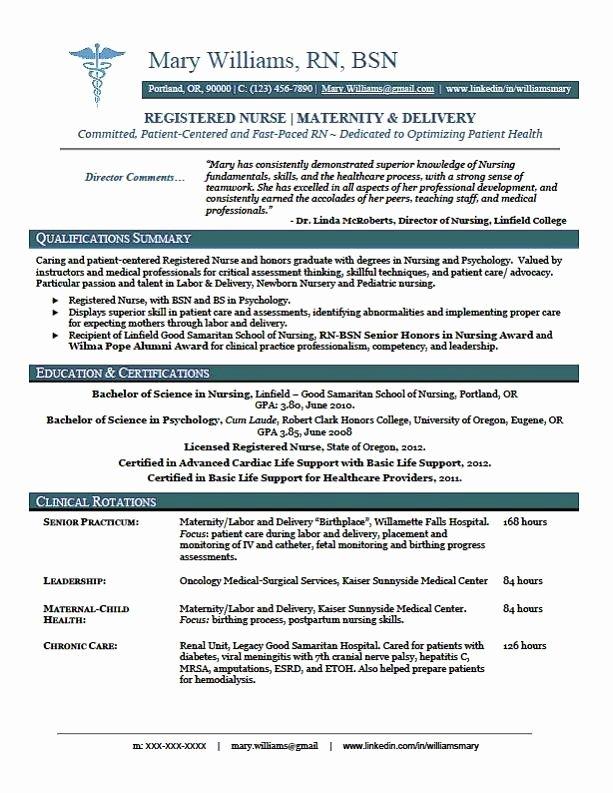 New Graduate Nurse Resume Examples New Sample New Rn Resume