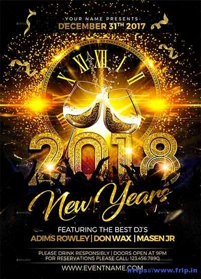 New Years Eve Flyer Awesome 75 Best New Year Flyer Print Templates 2019