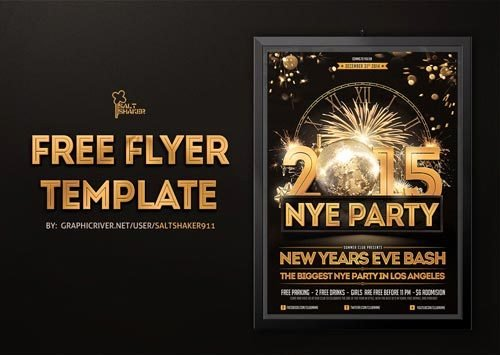 New Years Eve Flyer Awesome Freepsdflyer