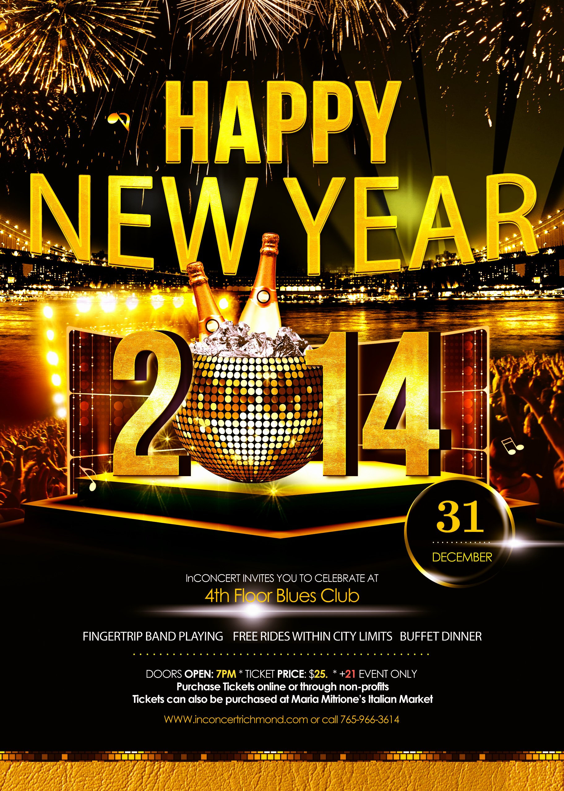 New Years Eve Flyer Awesome Happy New Year Flyer Inconcert2014
