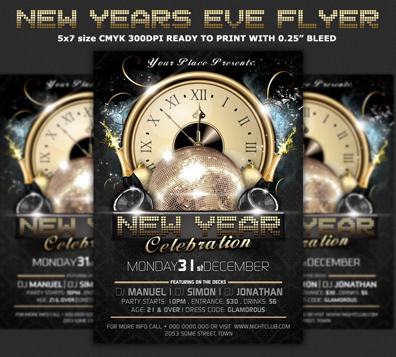 New Years Eve Flyer Awesome New Year Party Flyer Template – Festival Collections