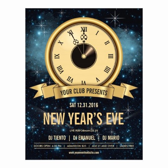 New Years Eve Flyer Awesome New Years Eve Countdown Flyer Template