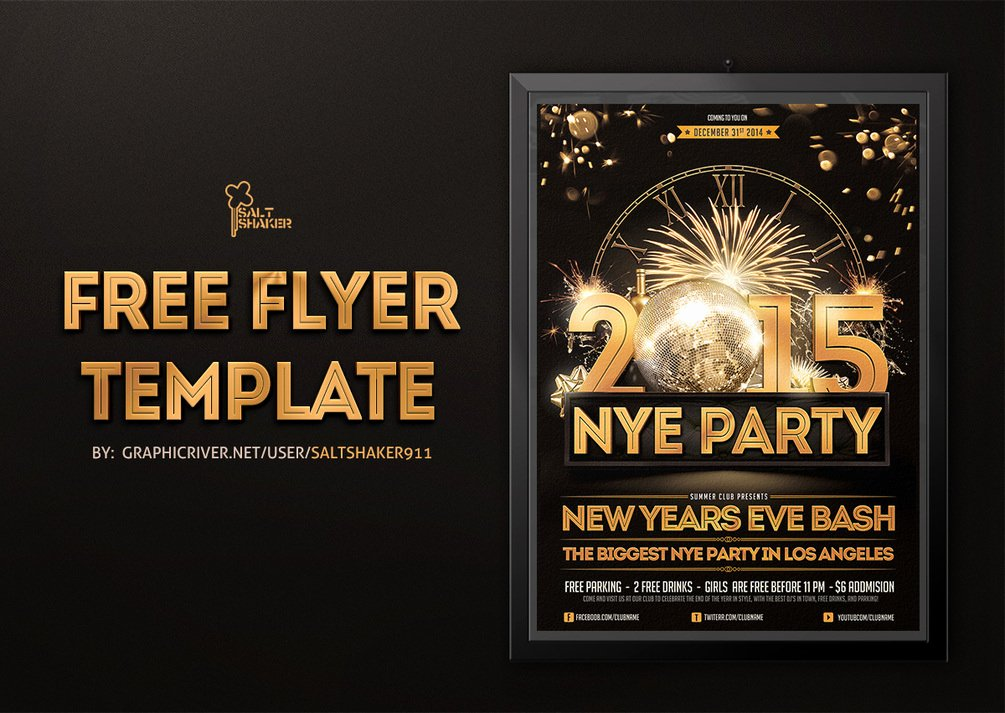 New Years Eve Flyer Awesome New Years Eve Flyer Template by Saltshaker911