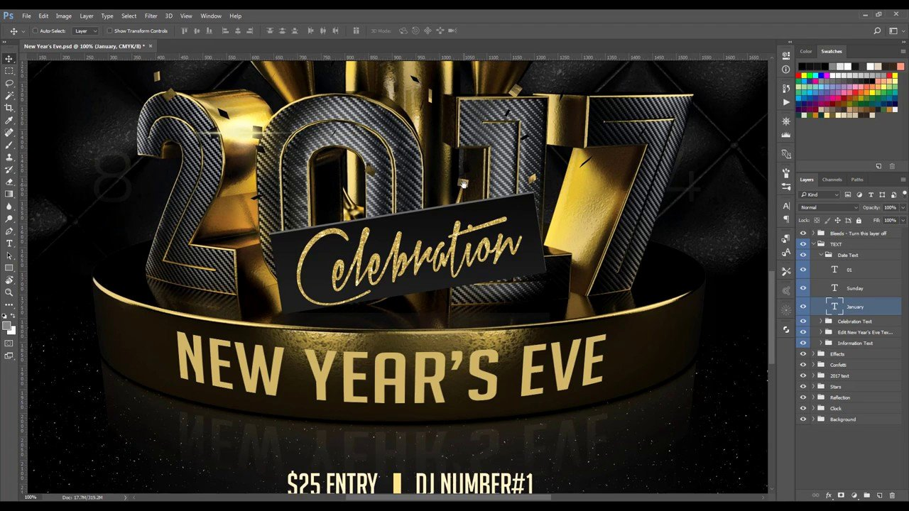 New Years Eve Flyer Beautiful New Year S Eve Party Flyer Help Video