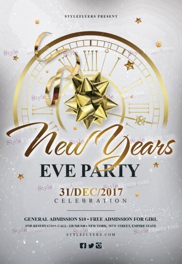 New Years Eve Flyer Best Of New Year's Eve Party Psd Flyer Template Styleflyers
