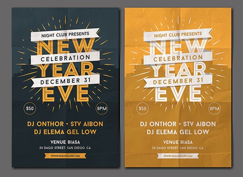 New Years Eve Flyer Inspirational 30 Best New Year S Eve Flyers and Invitations