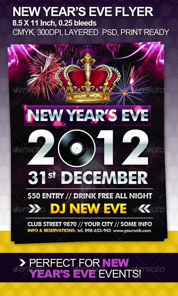 New Years Eve Flyer Inspirational 89 Best Images About Print Templates On Pinterest
