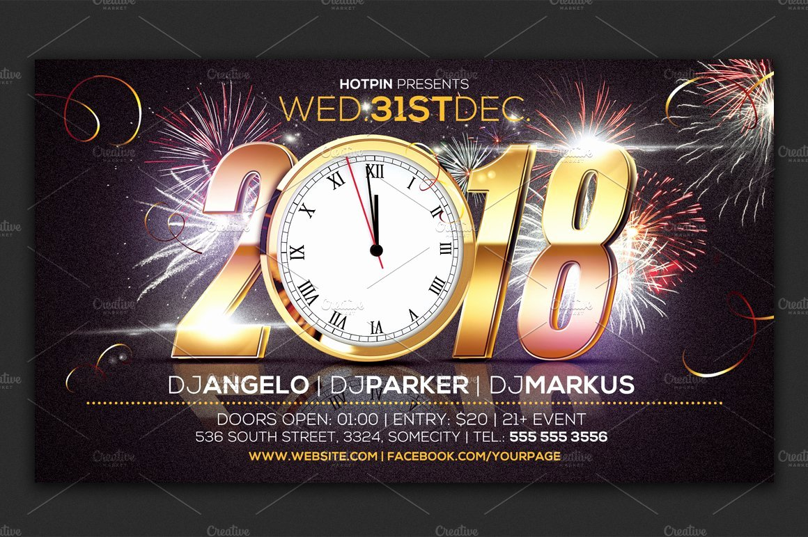New Years Eve Flyer Inspirational New Year Eve Party Flyer Template Flyer Templates