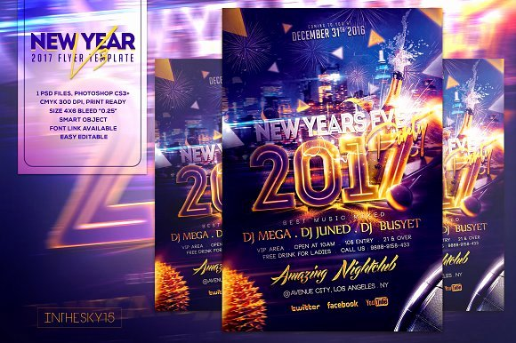 New Years Eve Flyer Inspirational New Years Eve V3 Flyer Template Flyer Templates On