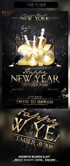 New Years Eve Flyer Lovely 2016 New Year Party Psd Flyer Template