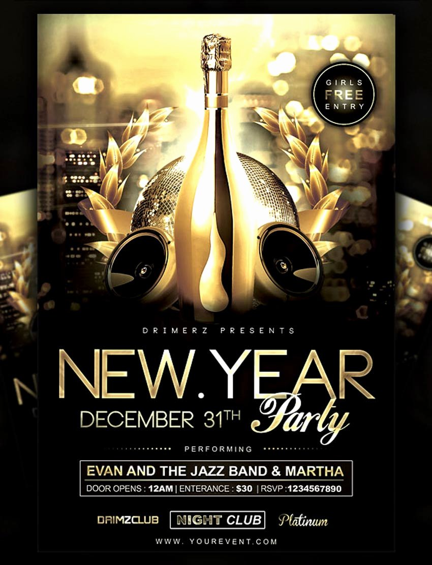 New Years Eve Flyer Luxury 30 Best New Year S Eve Flyers and Invitations