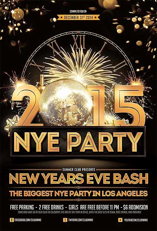 New Years Eve Flyer Luxury New Years Eve Free Psd Flyer Template