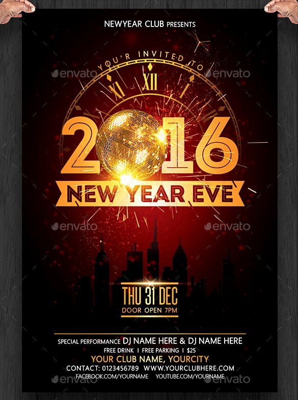 New Years Eve Flyer New 28 New Year Invitation Templates – Free Word Pdf Psd