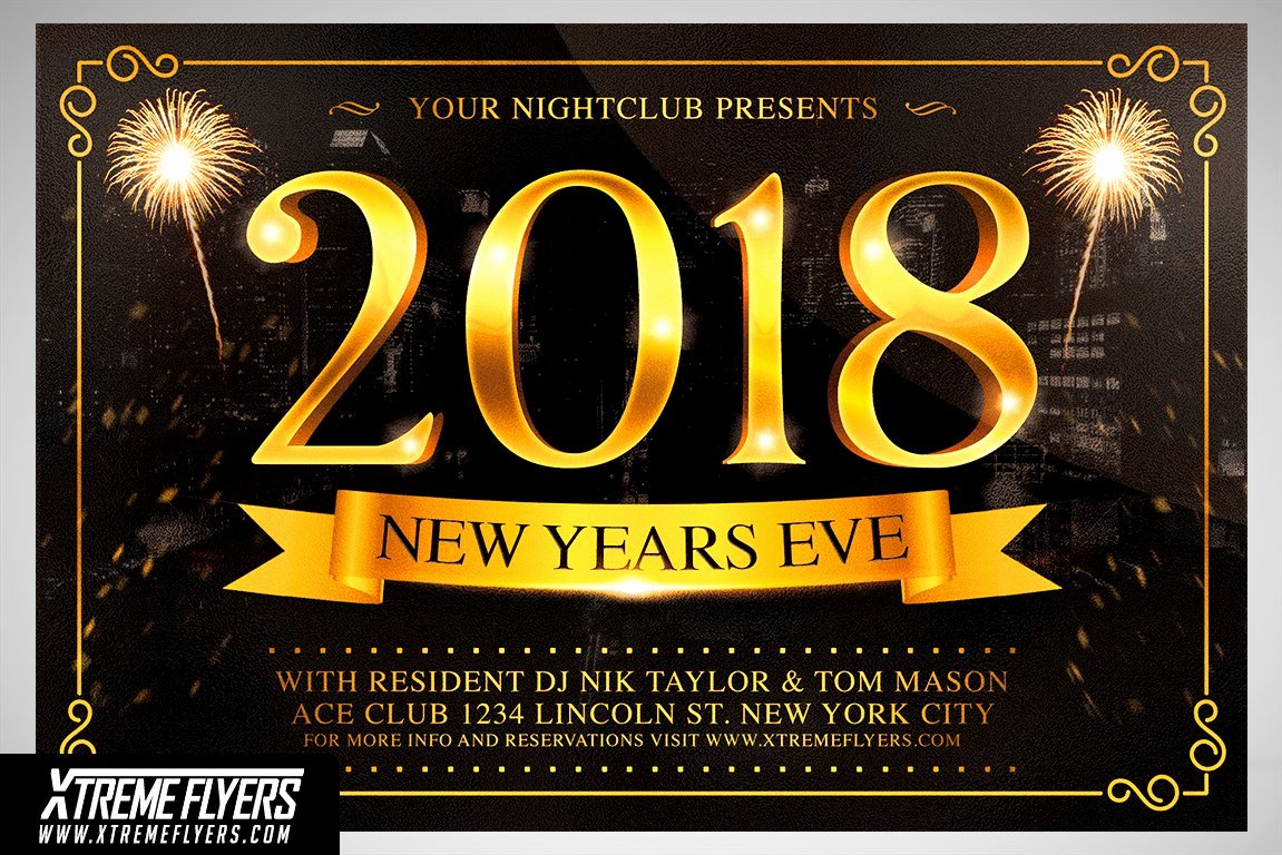 New Years Eve Flyer Unique New Years Eve Flyer Template Flyer Templates Creative