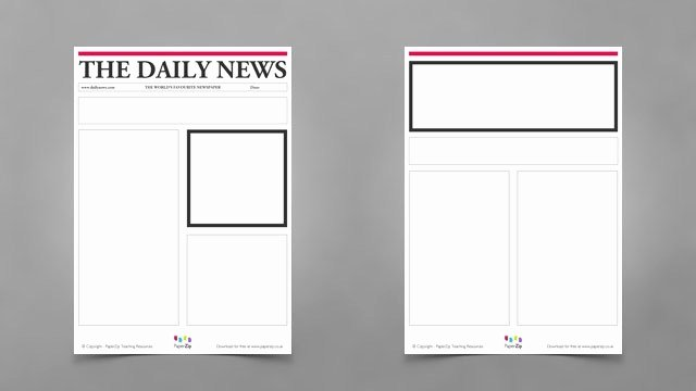 Newspaper Front Page Template Awesome Blank Newspaper Templates Paperzip