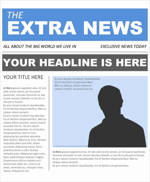 Newspaper Front Page Template Beautiful 22 Newspaper Templates Free Sample Example format