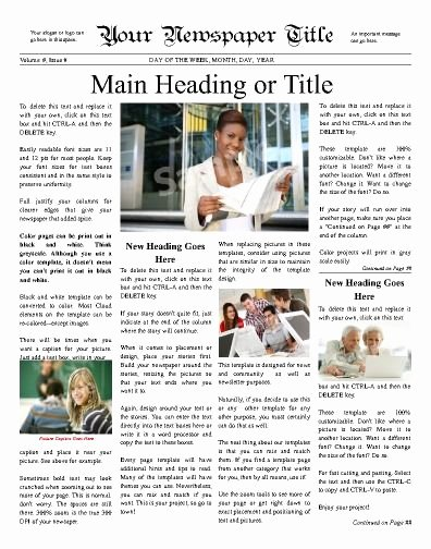 Newspaper Front Page Template Best Of Classic Looking Front Page Newspaper Reminiscent Of the